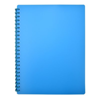 DISPLAY BOOK BLUE REFILLABLE 20 POCKETS